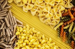 Close up of mixed pasta types